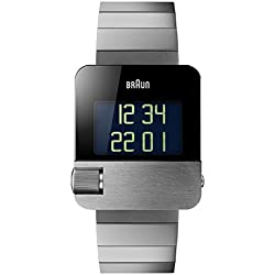 Braun Reloj Analógico para Hombre de Digital con Correa en Acero Inoxidable BN0106SLBTG