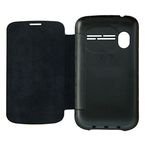 Acm Flip Case For Micromax Ninja A27 Mobile Front & Back Flap Folio Cover-Black  available at amazon for Rs.329