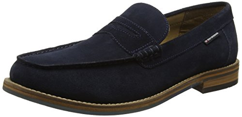 Ben Sherman Herren Stepney Slipper Blue (Cow Suede Navy)