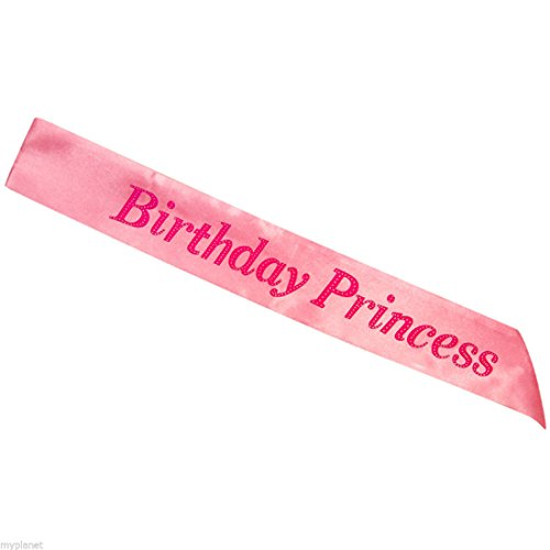 Pink Birthday Princess Sash Girls Night Out Party Decoration Accessory Fancy Dress by My Planet