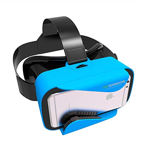ILYO Tragbare 3D-Virtual-Reality-Brille, 90 ° FOV-Adapter von Apple Andrews Huawei Smartphone, blau