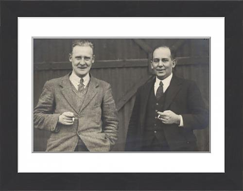 Used, Framed Print of R J Mitchell (left) and Capt G S Wilkinson for sale  Delivered anywhere in UK