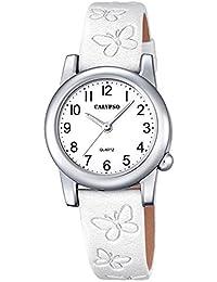 Calypso Montre enfant Junior Collection analogique Quartz cuir blanc UK5711/1