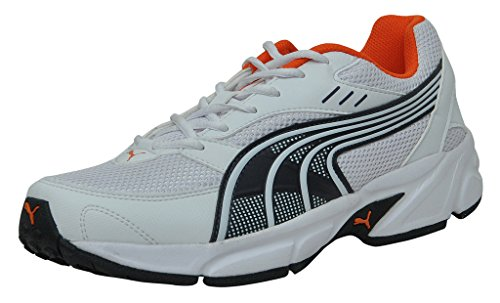 Puma 18888802 Men S Atom Ii Dp White Orange And Periscope Mesh Running Shoes  9 Uk- Price in India 164bd89c5
