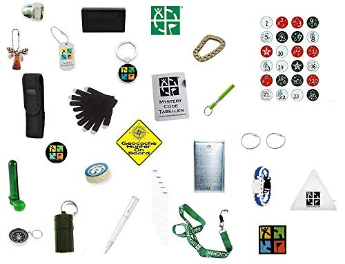 NEW 2019 - Geocaching advent calendar with 24 items and 24 stickers number perfect gift for christmas