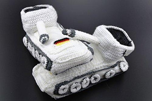 Original-Panzer-Schuhe-Hausschuhe-Pantoffeln-Handarbeit-Schnee-Wei-Gr-38-43-NEU