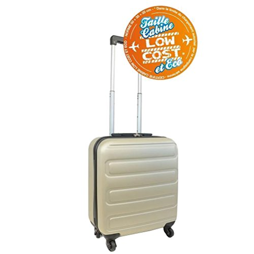 Kinston Valise Cabine Bagage Low Cost EasyJet Ryanair 50cm - 4 Roues Rigide Champagne
