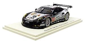 Spark-911RSR lmgte Am le Mans 2017Porsche vehículo en Miniatura, s5840, Negro/Plata, (Escala 1/43
