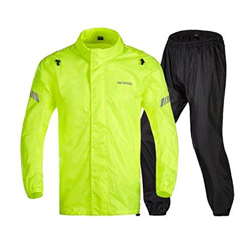 LAXF-Regenjacken Outdoor Motorrad Regenanzug für Männer Wiederverwendbare Regenkleidung (Regenjacke und Regenhosen Set) Erwachsene Wasserdicht Regenfest Winddicht mit Kapuze (Größe : XL)