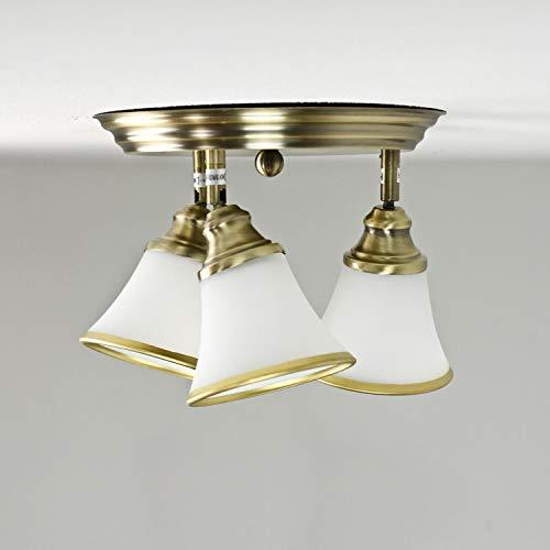 Bronze Bad Leuchte (Dekorative Deckenlampe Badleuchte in Bronzeoptik / 3x E14 IP20 / Deckenleuchte im Jugendstil/Spots verstellbar...)