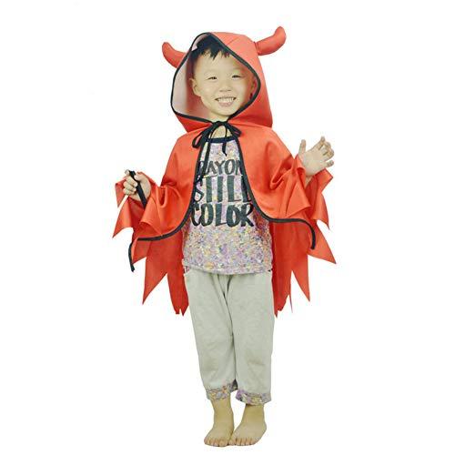leiner Teufel Umhänge Mäntel 80cm für Junge und Mädchen Make-up Party Kostüm ()