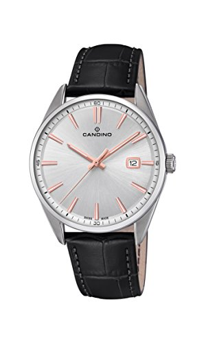 Candino Mens Analogue Classic Quartz Watch with Leather Strap C4622/1