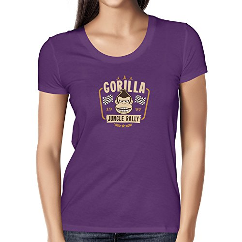 TEXLAB - Gorilla Jungle Rally - Damen T-Shirt Violett