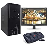 LappyPie Certified and Assembled 15.4 inch LED Monitor Desktop Computers with (Flur Intel Core i5 120 GB SSD 4 GB DDR3 RAM | Wired Keyboard and Mouse | 320 GB Hard Drive