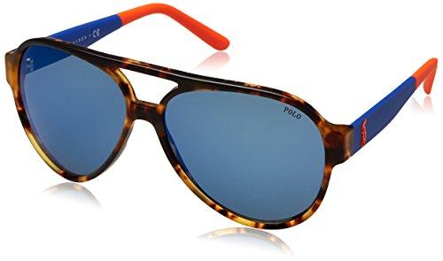 Polo ralph lauren 0ph4130 566955, occhiali da sole uomo, vintage new jerry tort/blue blue, 61