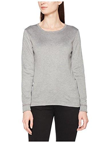 Damart Damen Thermounterwäsche-Oberteil T-Shirt Manches Longues Thermolactyl Double Chaleur Graumeliert