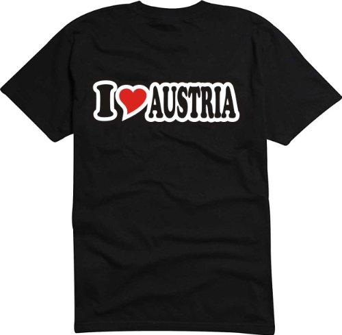 T-Shirt Herren - I Love Heart - I LOVE AUSTRIA Schwarz