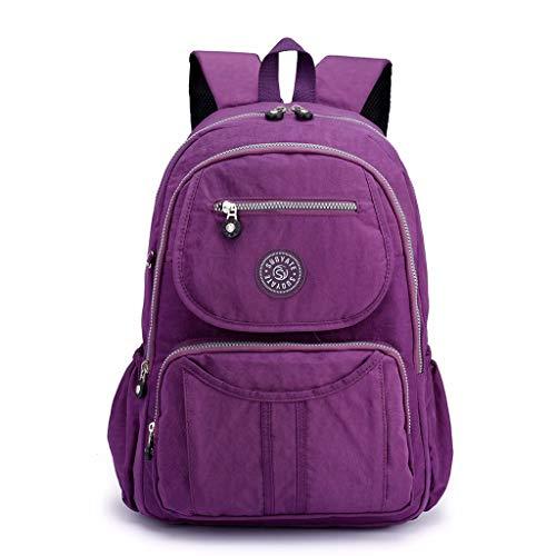 TUDUZ Studententasche Neue Männer und Frauen Studenten Rucksack mit großer Kapazität Reisetasche Mädchen(Lila)