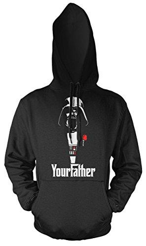 Your Father Männer und Herren Kapuzenpullover | Star Wars Vintage Empire Geschenk (3XL, ()