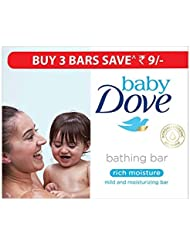 Baby Dove Rich Moisture Bar, 75g (Pack of 3)