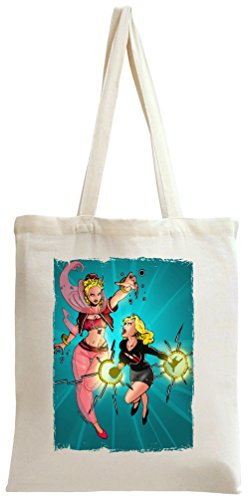 I dream of genie vs bewitched Tote Bag