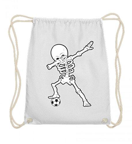 Hochwertige Baumwoll Gymsac - Dabbing Skelett mit Fussball Dab Gerippe Tanz Geschenk