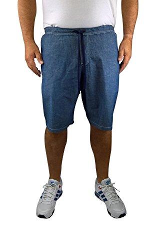 Herren 4-Pocket Jeans-Bermuda mit Schlupfbund 60, 62, 64, 66, 68, 70, XL, XXL, 3XL, 4XL, 5XL, 6XL, Große Größen, Übergröße, Big Size, Plus Size (6XL)