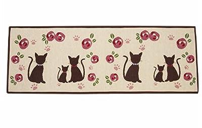 Asvert Door Carpet Bath Not-Slip Absorbent Area Rugs For Kitchens/Bathroom/Indoor/Living Room/Bedroom Brown Cat Hard-Wearing Mat 50 * 140 Cm - low-cost UK light shop.