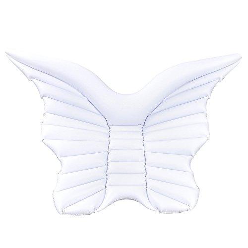Engelsflügel Riesen Pool Float Spielzeug Wasser Float Matratze Schwimmring,White (Erwachsenen-angel Wings)