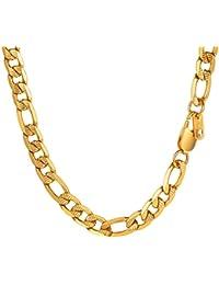 595300ffec3c PROSTEEL Collar Hombre de Cadena 3+1 Figaro 6mm 7.5mm 10mm Ancho de Acero  Inoxidable Collar Eslabones Longitud 46cm…