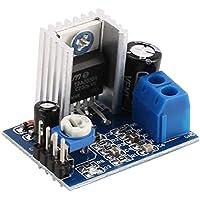 sdfghzsedfgsdfg Tablero del amplificador TDA2030A Super Mini DC 6-18V del módulo de alimentación de doble canal electrónico Herramienta de bricolaje audio amplificación de volumen ajustable azul