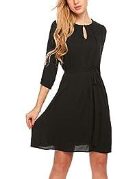 6467c77080ab7 Zeagoo Damen Elegant Abendkleid Partykleid Cocktailkleid Festliches Kleid A- Linie Kleider Falternrock 3/4…