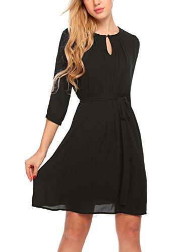 Zeagoo Damen Chiffon Kleid Abendkleid A Linie Sommerkleid Freizeitkleid Partykleid Cocktailkleid...