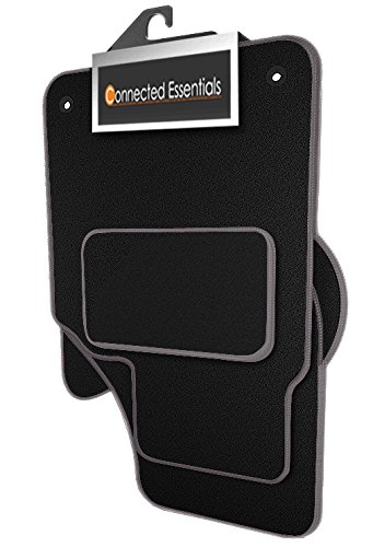 Preisvergleich Produktbild Connected Essentials individuell angepasste Automatten fürKia Sportage (MK 3) 2010 - 2016 - schwarz mit grauem Rand,4-teiliges Set