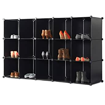 vonhaus 15 cube de rangement modulable pour chaussures. Black Bedroom Furniture Sets. Home Design Ideas