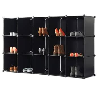 VonHaus: 15 cube de rangement modulable pour chaussures: Amazon.fr: Commerce, Industrie & Science