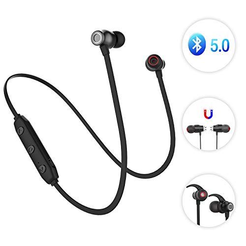 678c8952059 Auricolari Magnetici Sport Cuffie Bluetooth 5.0, Sunvito Ultraleggere  Wireless Headset Impermeabili IP4, 6 Ore