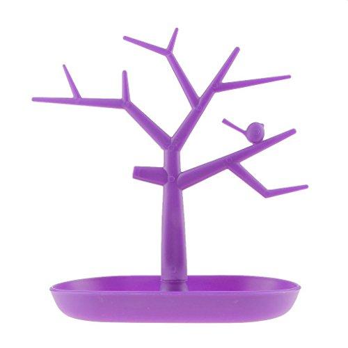 Squishtoy Kreative Anhänger Baum Schmuckständer Display hängende Ohrringe Display-Ständer Vogel Baum Display-Ständer (Lila)