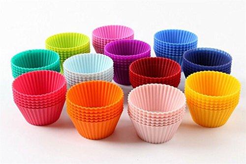 Preisvergleich Produktbild iTemer Silikon Muffinschale Kuchen Schimmel Handseife Küchenwerkzeuge 12 Stück ein Satz