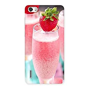 Gorgeous Strawberry Shake Back Case Cover for Honor 6