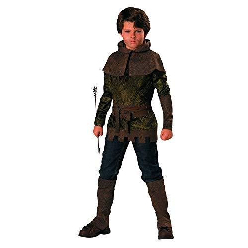 Kostüm Kapuze Kind Robin - Robin Hood Kostüm für Kinder 6teiliig - 122/128