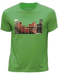 STUFF4 Boy's Round Neck T-Shirt/Equalizer/London Bus/CS