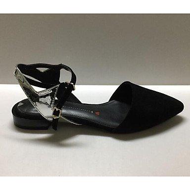 Sandales Pour Femmes Rtry Confort Cuir Nubuck Été Synthétique Confort Informel Gris Noir Plat Us7.5 / Eu38 / Uk5.5 / Cn38