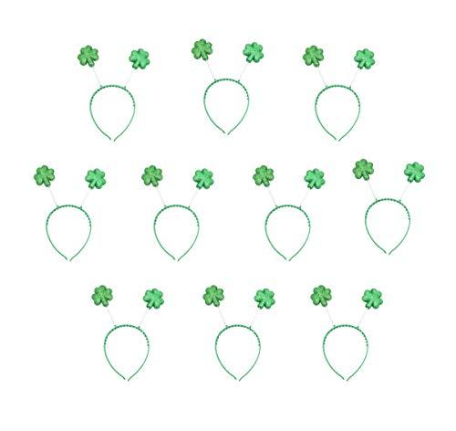 Fairy Baby 10-Pack St. Patrick´s Day - Shamrockkopf-Bopper - Irish Green - Stirnband Size F (Klee)