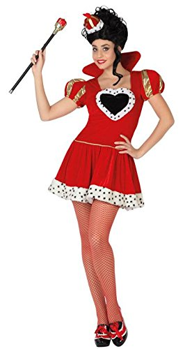 Atosa-26853 Disfraz Reina Corazones, Color rojo, XL (26853