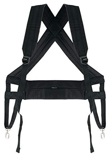 XDrum Djembé Gurt Pro (Schultergurt zum Umhängen von Djemben, mit 2 Metallkarabinern, längenverstellbar von 45 bis 92 cm, zusätzlicher Gurt entlastet Schultergürtel) schwarz