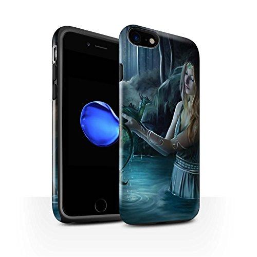 Officiel Elena Dudina Coque / Brillant Robuste Antichoc Etui pour Apple iPhone 8 / Eau/Bébé Design / Dragon Reptile Collection Eau/Bébé