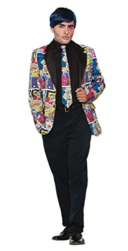 Forum Novelties x76714 Pop Art Krawatte, Herren, Mehrfarbig, One Size