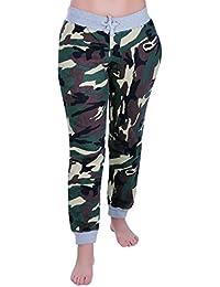 Eyecatch - Damen Casual Army Military Tarnung Sport Gym Jogger Jogging Damen Trainingshose