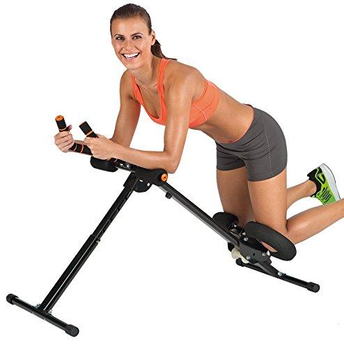 VITALmaxx 00161 Abmaxx 5 Trainingsgerät | Professioneller Bauchtrainer & Fitnessgerät | Gesamter Körper | Muskeltrainer Platzsparend Klappbar | Ab Trainer | Fitnesstraining Für Kraft Und Ausdauer Zu Hause | Schwarz